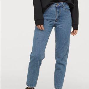 H&M dark wash mom jeans NWOT